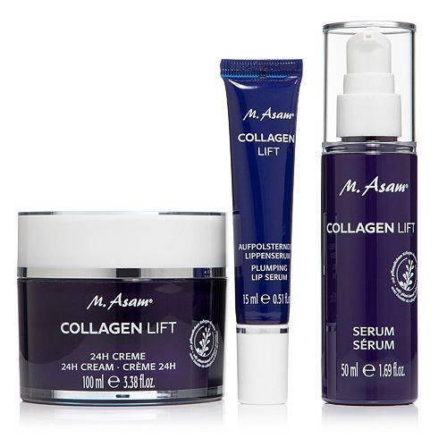 M.ASAM® Collagen Lift 24h-Creme 100ml, Serum 50ml & Lippenserum 15ml