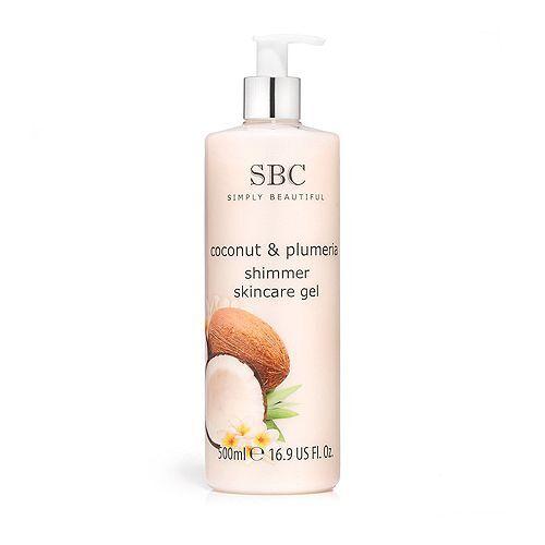 SBC Kokusnuss & Plumeria Skincare Gel mit Schimmer 500ml