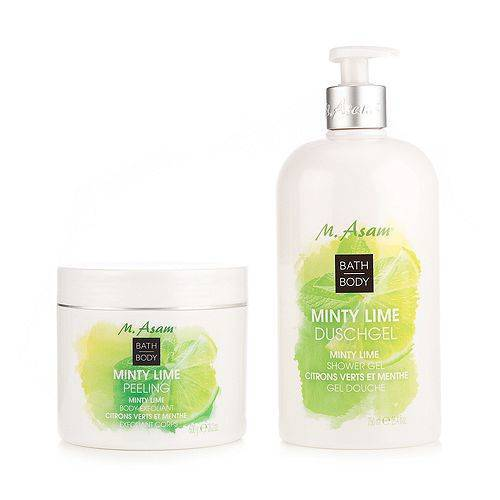M.ASAM® Minty Lime Bath & Body-Set Duschgel 750ml Peeling 600g
