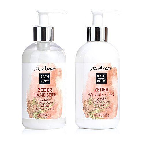 M.ASAM® Zeder Handseife & Handlotion 2x 245ml