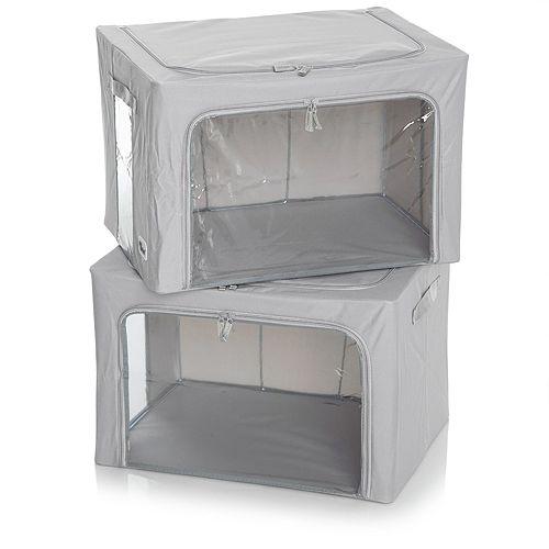 PERIEA Aufbewahrungsboxen mit XL-Sichtfenster stapelbar 2x Large