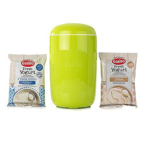 EASIYO Starter-Set Joghurtbereiter mit 1l Behälter & 2 Beutel Joghurt