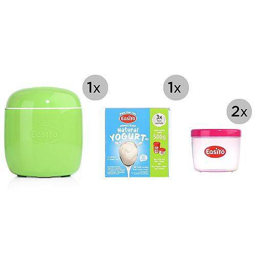 EASIYO kleiner Joghurtbereiter & Joghurtpulver 2 Behälter