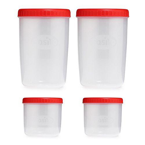 EASIYO Behälter-Set 4 Stück spülmaschinenfest 2x 250ml & 2x 1l