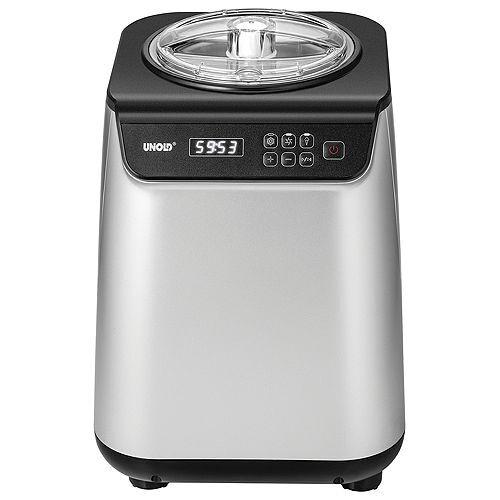 UNOLD® Uno Eismaschine selbstkühlend mit LCD-Display 1,2l Behälter