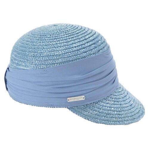 Seeberger Schute aus Strohborte mit UV-Schutz, Hellblau (67) One Size