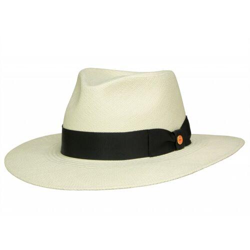 Mayser Nizza breitkrempiger Panamahut mit UV-Schutz, Natur-Schwarz (4-8001) 60,5 cm (60)