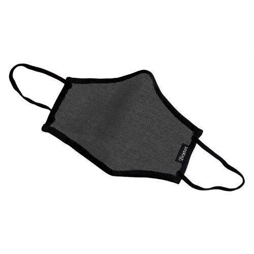 Brixton Mund-Nase-Maske Antimikrobiell, Schwarz (BKHGB) One Size