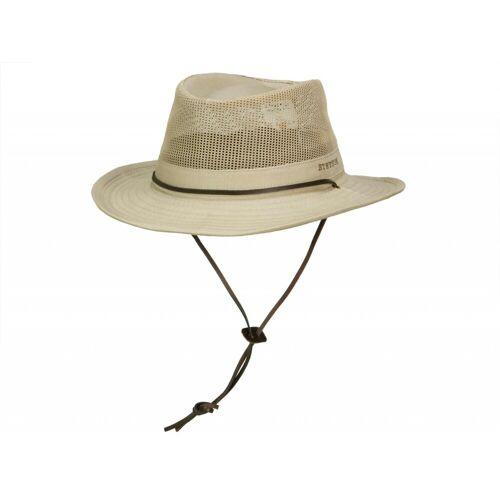 Stetson Takani Sommer Outdoorhut mit Sonnenschutz und Coolmax, Beige (7) 56-57 cm (M)