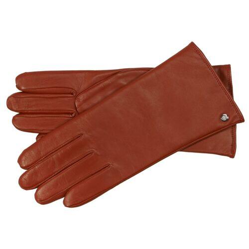 Roeckl Classic Wool Damen Lederhandschuh mit Scotchgard-Ausrüstung, Rot (450) 19 cm (7)