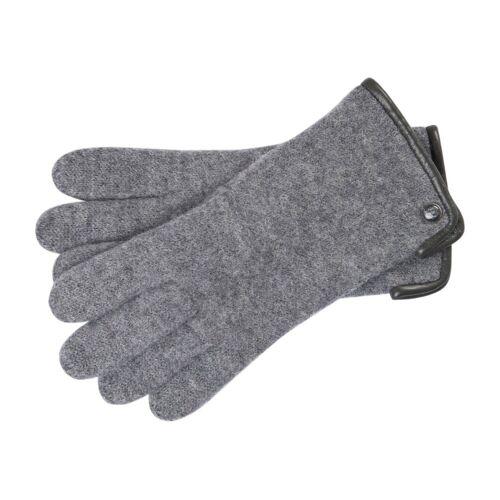 Roeckl Klassischer Damen Walkhandschuh aus Schurwolle, Grau (70) 16 cm (6)