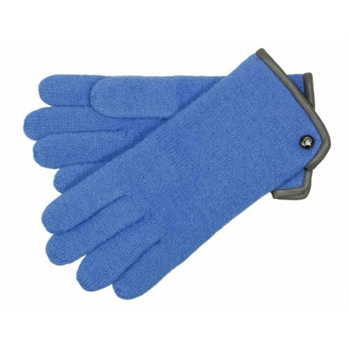 Roeckl Klassischer Damen Walkhandschuh aus Schurwolle, Blau (539) 17,5 cm (6,5)