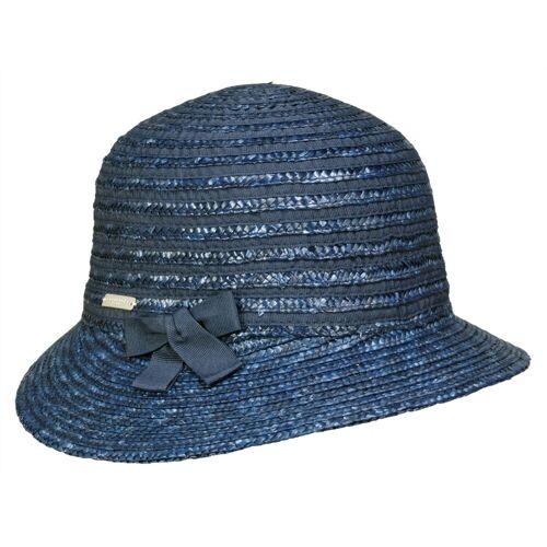 Seeberger Sonnenhut aus Strohborte mit UV-Schutz, Blau (68) One Size