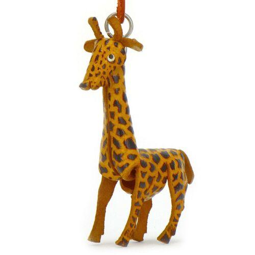 Monkimau Giraffen Schlüsselanhänger aus Leder