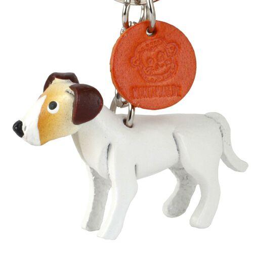 Monkimau Jack Russell Terrier Schlüsselanhänger aus Leder