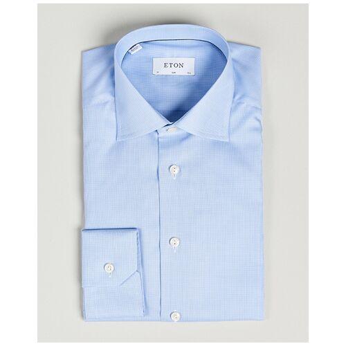 Eton Slim Fit Shirt Pepita Blue