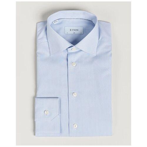 Eton Slim Fit Poplin Thin Stripe Shirt Blue/White