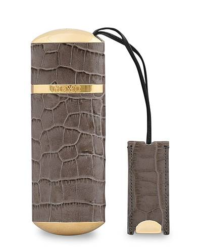 Memo Paris French Leather Travel Case Taupe Croc 10ml