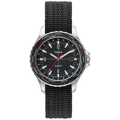 Timex Navi World Time 38mm Steel/Black Dial