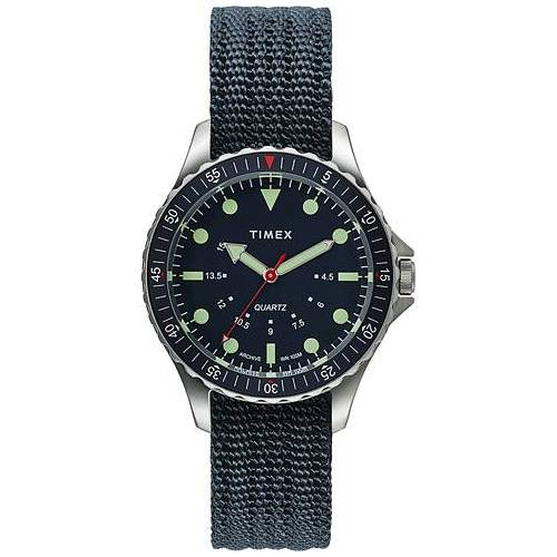 Timex Navi Depth 38mm Steel/Blue Dial