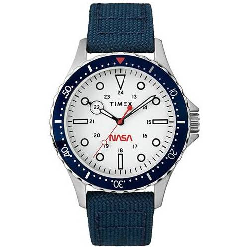 Timex Navi XL NASA 41mm Blue/White Dial