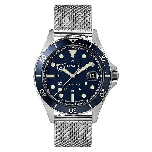 Timex Navi XL Automatic 41mm Steel/Blue Dial