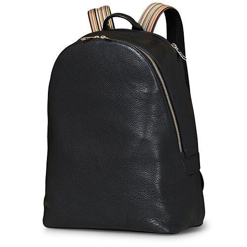 Paul Smith Leather Rucksack Black
