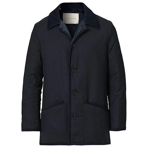 Mackintosh Wool Brunel Coat Navy