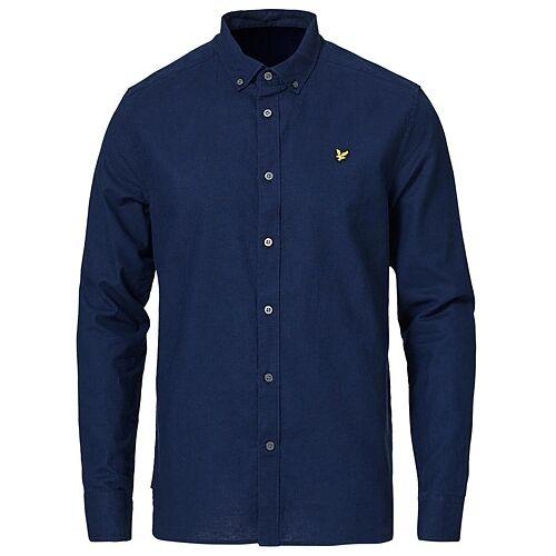 Scott Lyle & Scott Linen/Cotton Shirt Navy