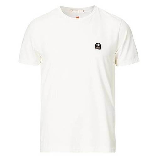 Parajumpers Patch Crew Neck Tee Off White