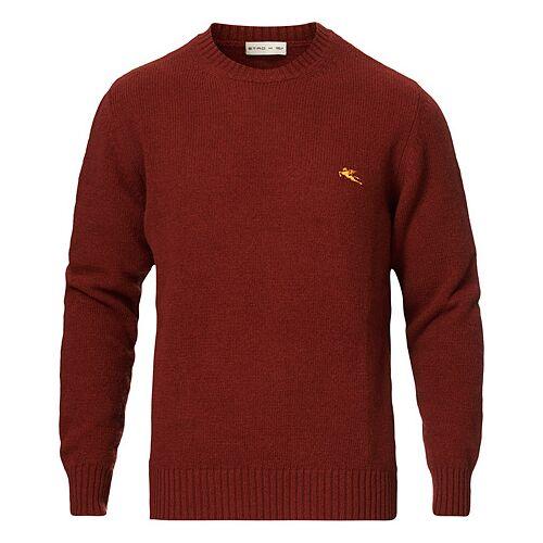 Etro Virgin Wool Crew Neck Sweater Rust