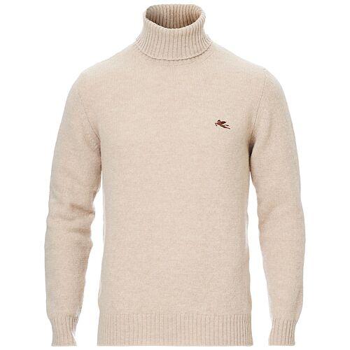 Etro Virgin Wool Turtleneck Sweater Off White