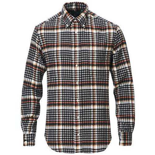 Gitman Vintage Button Down Country Plaid Shirt Grey/Red