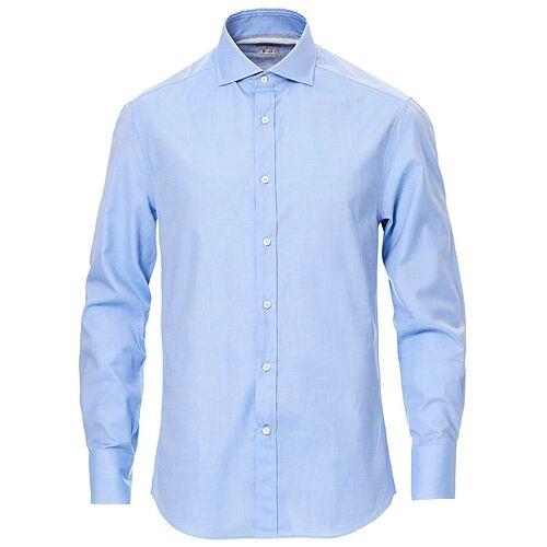 Brunello Cucinelli Slim Fit Twill Shirt Blue