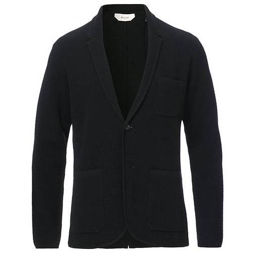 Z Zegna Knitted Cardigan Blazer Black