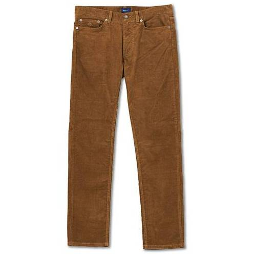 GANT Slim Fit Corduroy 5-Pocket Pants Butternut
