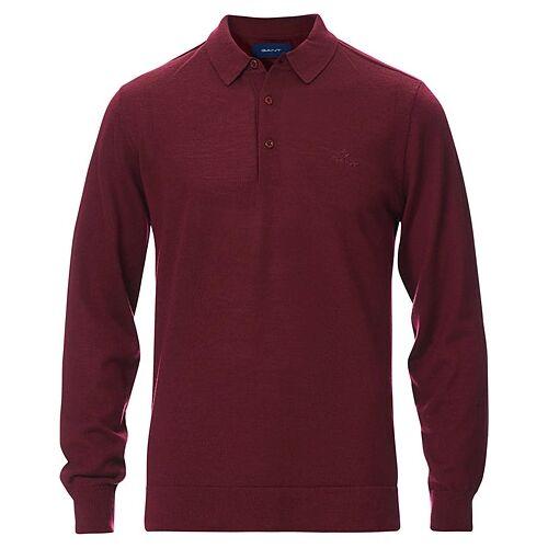 GANT Washable Merino Polo Shirt Port Red