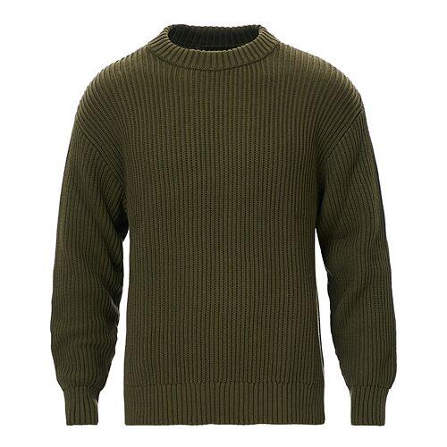 Nudie Jeans Frank Chunky Rib Sweater Olive