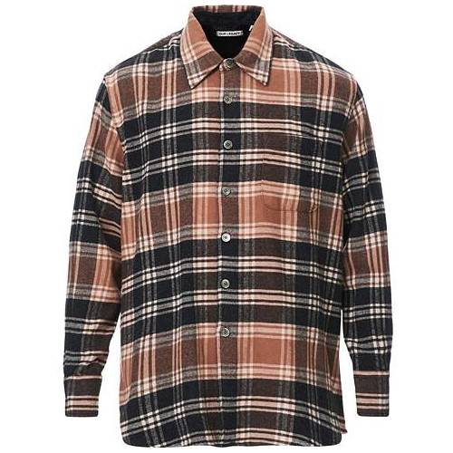 Our Legacy Above Plaid Flannel Shirt Brown/Blue