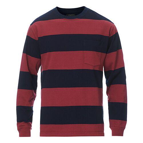 BEAMS PLUS Pocket Gym Sweatshirt Navy/Burgundy