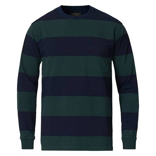 BEAMS PLUS Pocket Gym Sweatshirt Navy/Green