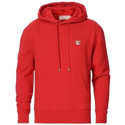 Maison Kitsuné Fox Head Hoodie Red