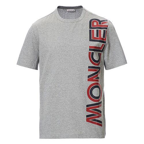 Moncler Logo Crew Neck Tee Grey