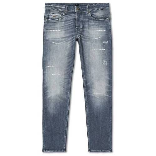 Boss Casual Taber Stretch Shredded Jeans Medium Grey
