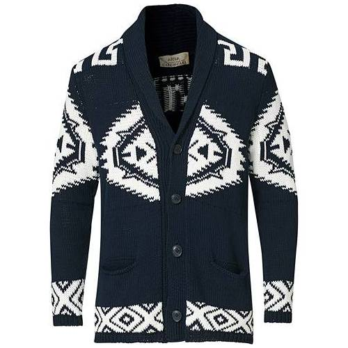 Altea Azteco Shawl Collar Cardigan Navy