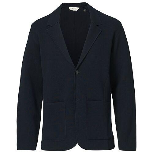 Z Zegna Knitted Cardigan Blazer Navy
