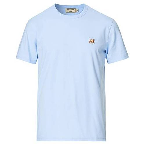 Maison Kitsuné Fox Head Tee Light Blue