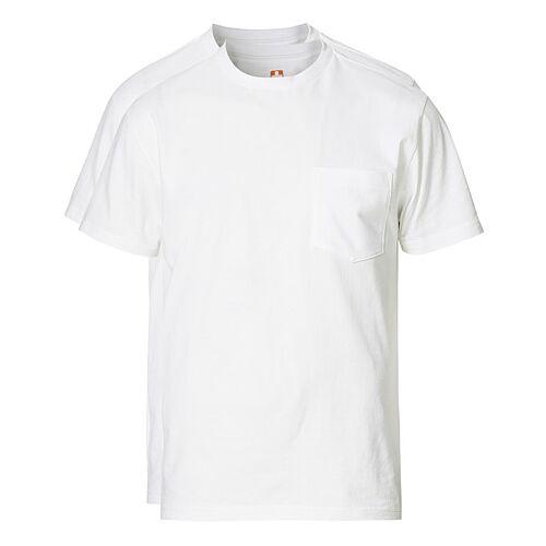 BEAMS PLUS 2-Pack Short Sleeve Pocket Tee White