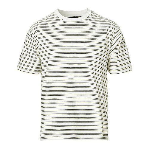 BEAMS PLUS Striped Pocket Tee White