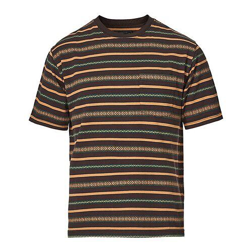 BEAMS PLUS Striped Pocket Tee Brown